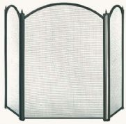 Dynasty 3 Panel Fire Screen in black 0081796